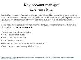 Interview Questions For Account Managers Key Account Manager Cover Letter Example Project Sample Assistant