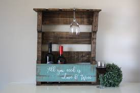 Reclaimed Wood Wine Cabinet Pallet Wine Rack Etsy