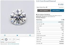 Diamond Carat And Clarity Chart The Ultimate Guide To Buying A Half Carat Diamond Ring