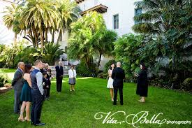 santa barbara courthouse wedding ceremony in the sunken garden and intimate reception at el encanto hotel on the riviera