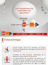 dissertation sur conflits et mobilisation sociale   Documents BVA Orange iT  l     Les Fran  ais face    la mobilisation des agriculteurs