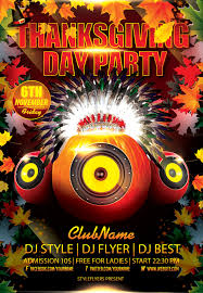 thanksgiving party flyer thanksgiving day party flyer psd template thanksgiving flyer