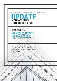 Announcing speakers! Mr Wesley Howell Mr... - Cruise Port Referendum Cayman    Facebook