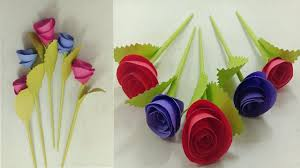 Paper Flower Craft Ideas Diy Wall Decoration Door Origami Easy Paper Flowers Wall Hanging Paper Flower Rose Craft Ideas