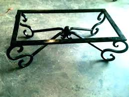 glass coffee table base wrought iron tables bases legs round metal
