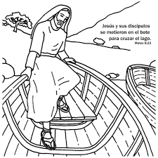 Jesus Calms The Storm Coloring Card