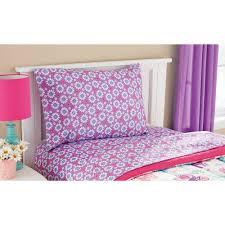 twin girls princess bedding set flat fitted sheet comforter pillowcase sham