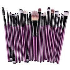 20 pcs makeup brush set tools make up toiletry kit wool make up brush set