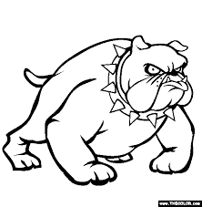 Small Picture Bulldog Coloring Page Free Bulldog Online Coloring Worksheets