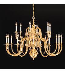 crystorama lighting williamsburg 18 light chandelier in polished brass 418 42 18
