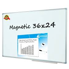 whiteboard for home office. Lockways Magnetic Dry Erase Board - Whiteboard / White 36 X 24 Inch, For Home Office R