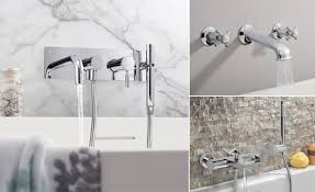 basin taps grohe spa atrio classic crosswater wall mounted bath fillers