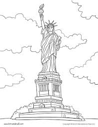 Small Picture Statue of Liberty Coloring Page Social Studies Printables