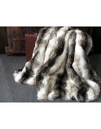 italian wolf faux fur throws