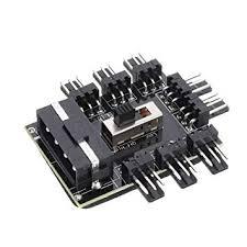 <b>1 to 8 3Pin</b> Fan Hub PWM Molex Splitter PC Mining Cable: Amazon ...