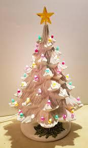 Vintage White Christmas Tree Lights Vintage Ceramic White Light Up Christmas Tree