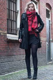 outfit plaid leather