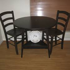 image of stylish small round kitchen table