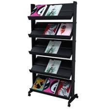 magazine rack office. Mobile Literature Rack With Five Shelves, 33387 Magazine Office E