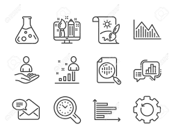Set Of Education Icons Such As New Mail Graph Chart Stats