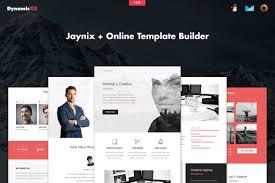 Mailchimp Responsive Design Template Jaynix Responsive Corporate Portfolio Email Marketing
