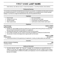 Excellent Resume Templates Enchanting Free Professional Resume Templates LiveCareer