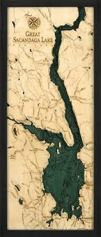 Lake Conroe Nautical Chart Great Sacandaga Lake New York 3 D Nautical Wood Chart