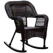 black wicker rocking chair. Simple Wicker Dark Brown Wicker Outdoor Patio Rocking Chair  And Black O