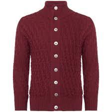 pport red stark cardigan