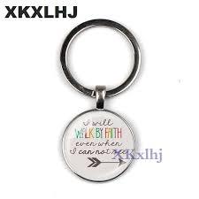 <b>XKXLHJ Bible Verse</b> Key Chains 25MM Glass Pendant Keychain ...