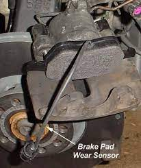 audipages front brake pad warning light