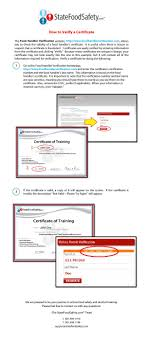 best images about training and education hand this tutorial takes you step by step through the process of verifying a user s certificate to check the validity of food handler certificates