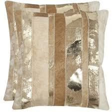 beige decorative pillows. Fine Beige Safavieh Cowhide Peyton 22inch Gold Feather Down Decorative Pillows Set  Of 2 Inside Beige E