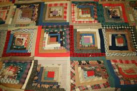 Late 19th Century  Log Cabin  Style Quilt - Gateway Arch National ... & Quilt 2. Late 19th Century