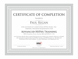Certificate Of Completion Templates New Format Certificate Of Completion Training Example Sample