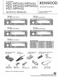 kenwood kdc mp342u service manual pdf kenwood kdc mp242u mp342u mp443u mp5043u mp543u cd receiver service manual