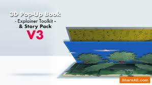 Popup Book Template Popup Free After Effects Templates After Effects Intro