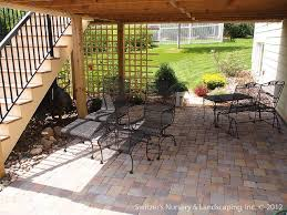 diy paver patio under deck