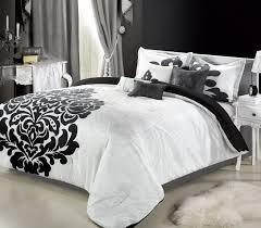 black and white bedding set