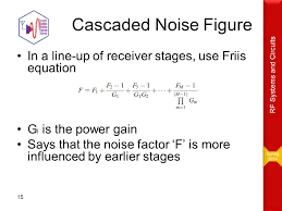 spring 2016 rf systems and circuits cascaded noise figure in a line
