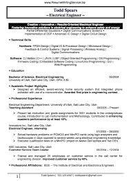 Electrical Engineer Resume Sample Engineering Resume