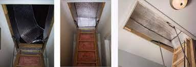 humidity proof attic door insulation