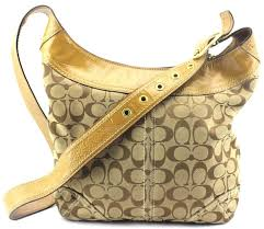 Coach Signature Camel Sophie Large Brown Canvas Cross Body Bag - Tradesy