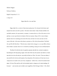 edgar allen poe essay literary analysis essay on the cask of  edgar allan poe love and hate