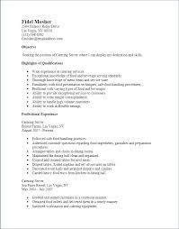 Food Service Skills Resume Server Skills Resume Emelcotest Com