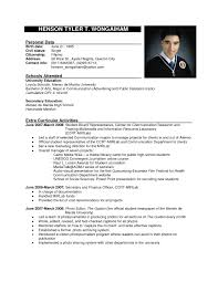 Resume Example Format Examples Of Resumes