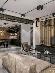industrial loft lighting. Modern Loft In Kaunas: Industrial Style Wrapped Unpretentious Lighting Decoist