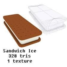 ice cream sandwich furniture. Cartoony Ice Cream Collection 3d Model Max Obj Fbx Mtl Unitypackage 6 Sandwich Furniture