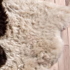 champagne large sheepskin rug
