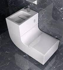 stylish curved toilet and sink combo